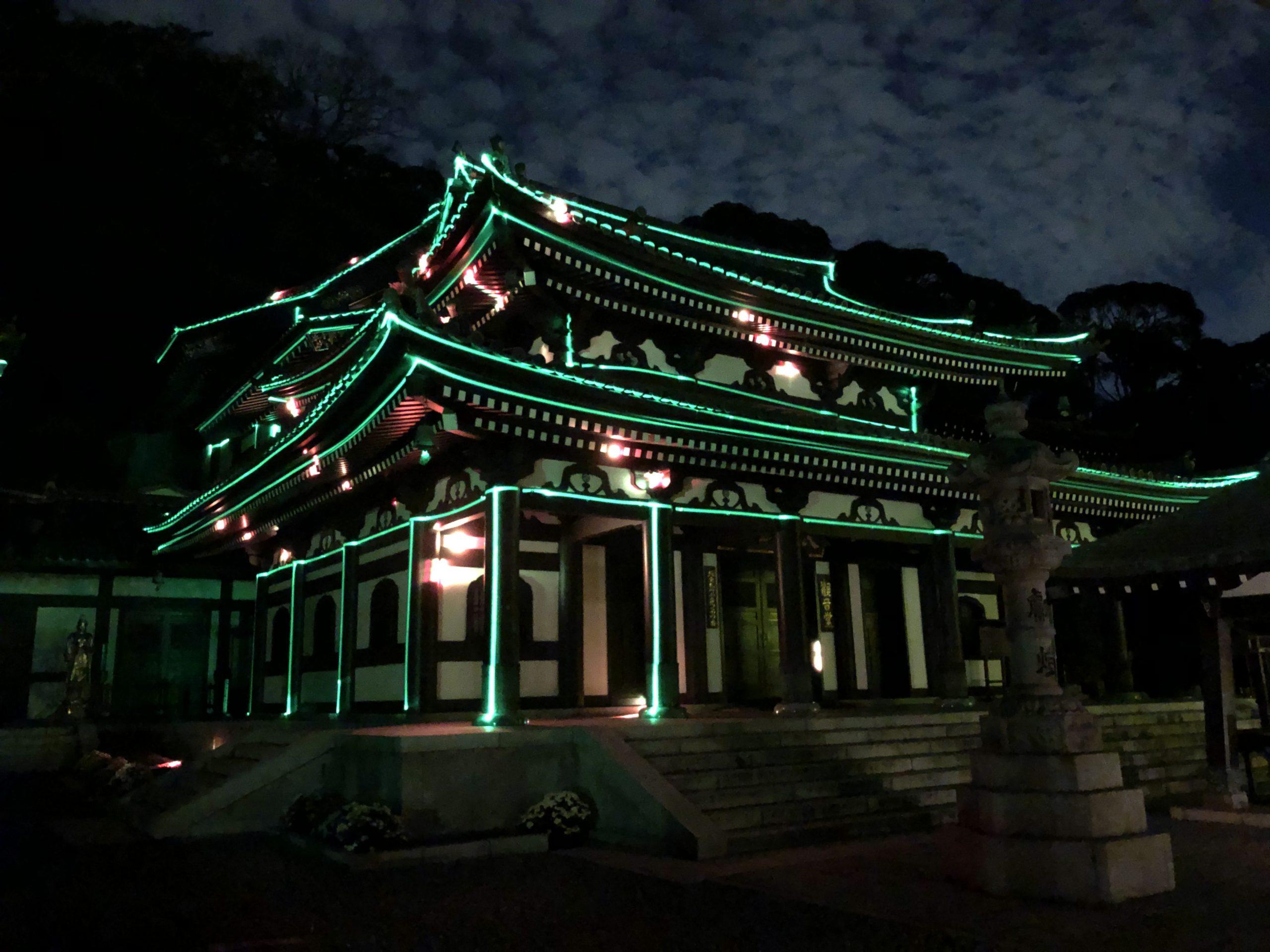 長谷寺 ライトアップ&レーザーマッピング